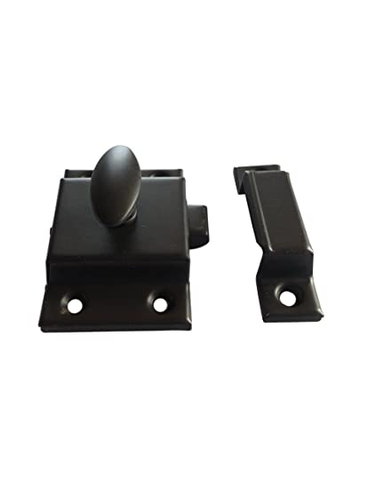 Cabinet Door Latch Oil Rubbed Large Bronze Steel Latch With Catch