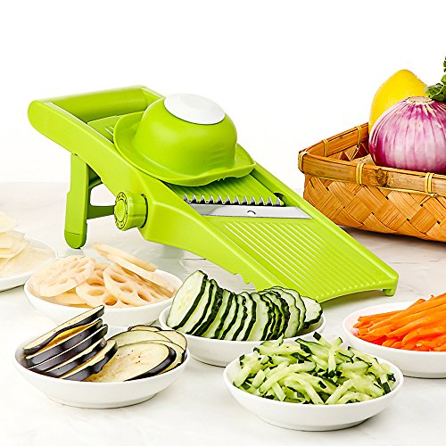 Lekoch Mandoline Slicer - Adjustable Blade Fine to Thick Slice & Julienne Settings, Vegetable Cutter, Grater & Slicer for Vegetable, Potato, Tomato, Onion, Cheese (9mm Strands 3)