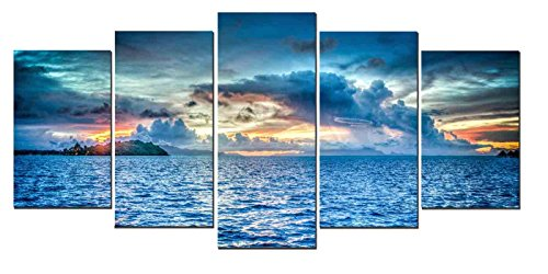 wall art canvas blue - 2