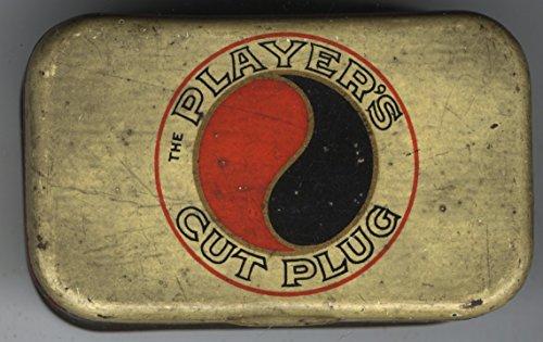 (Vintage Player's Navy Cut Tobacco Flat Pocket Tin - yin yang design)
