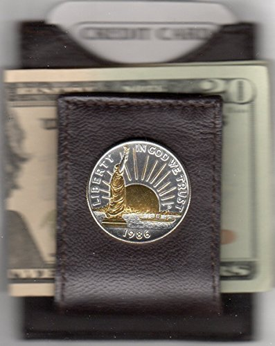 Statue of Liberty half dollar - Gorgeous 2-Toned  Gold & Sil