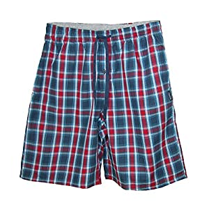 Hanes Mens Cotton Madras Drawstring Sleep Pajama Shorts