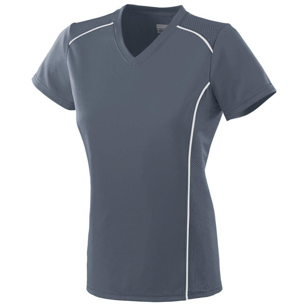 Augusta Sportswear SHIRT レディース B00IUKSQH6 XX-Large|グレー/ホワイト グレー/ホワイト XX-Large