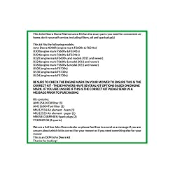 .John Deere Maintenance Kit X300, X320, X324, X360