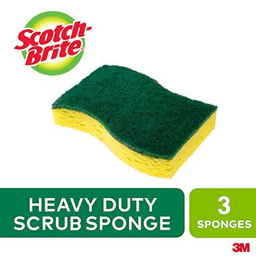 [해외]Scotch-Brite MMMHD3 헤비 듀티 스크럽 스폰지 옐로우 & 그린 팩 당 3개입 / Scotch-Brite MMMHD3 헤비 듀티 스크럽 스폰지 옐로우 & 그린 팩 당 3개입