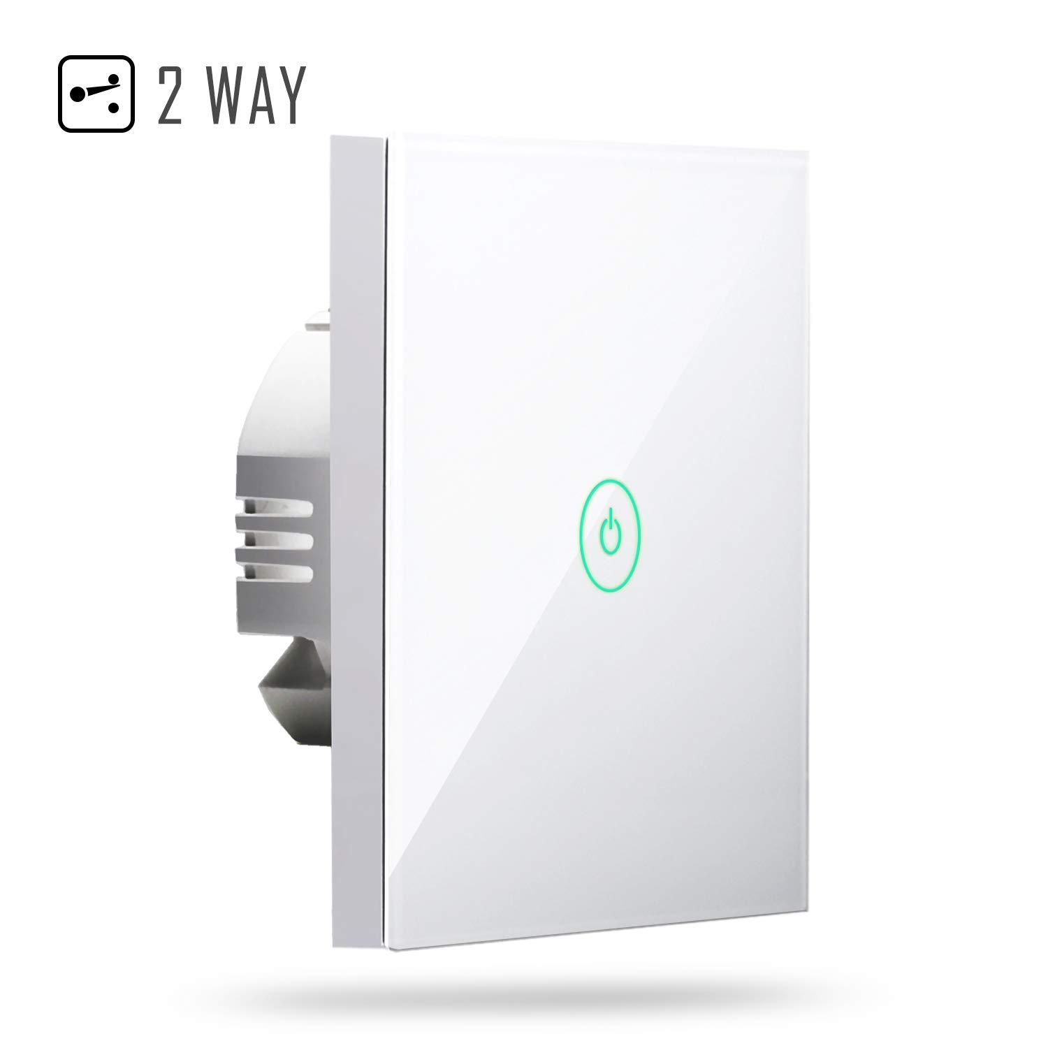 Interruptor táctil de pared Wi-Fi 2 way 1 gang, con pantalla táctil,