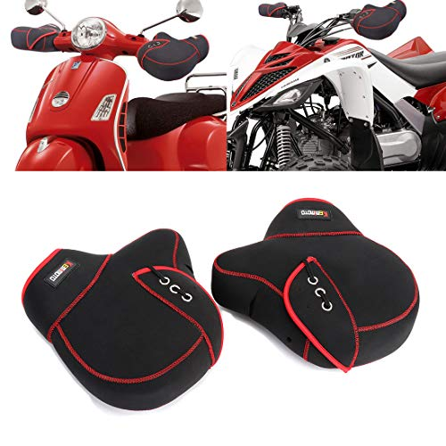 KEMIMOTO Motorcycle Handlebar Muffs ATV Scooter Hand Mitts Warmer Winter Windproof Waterproof Cover Gloves for Polaris Sportsman Scooter Yamaha Grizzly Honda Rincon Foreman Mountain Bike Can Am