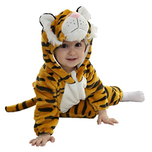 Unisex Baby Halloween Costumes Cartoon Outfit Homewear Tiger 80 ()