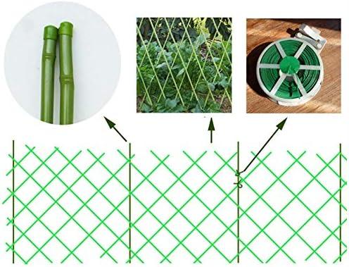 ZENGAI-vallas De JardíN Valla para Exteriores Cerca De Bambú Barra De Bambú Jardín Cerca Enredadera Tramo Barandilla Verde Bambú Tira De La Red Cuerda Se Vende por Separado (Size : Network135x30CM): Amazon.es: