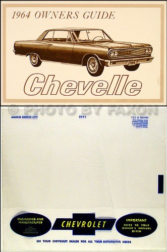 1964 Chevelle, SS, El Camino, Malibu Reprint Owner's Manual Package