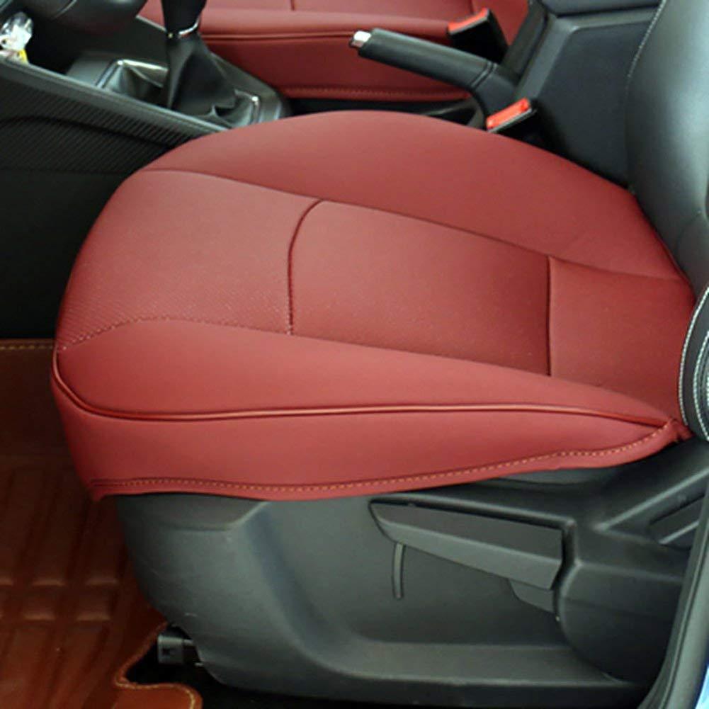 MEYLEE Auto Sitzkissen, Kantenverpackung Auto Vordersitz Kissenbezug Pad Matte Für Auto Bürostuhl mit PU Leder