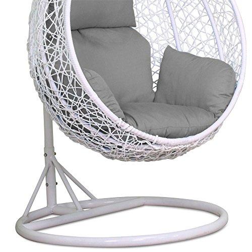 Phenomenal Yaheetech Rattan Swing Chair Patio Garden Wicker Hanging Egg Creativecarmelina Interior Chair Design Creativecarmelinacom
