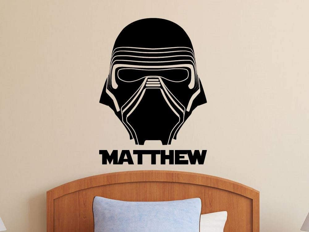 Best Design Amazing Kylo Ren - Star Wars Wall Decal - Personalized Name Decal - Sticker Boys Decor Made in The USA - Large Size