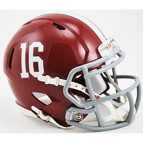 Alabama Mini Helmet (Alabama Crimson Tide #16 Riddell Speed Mini Football Helmet)