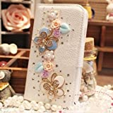 Luxury 3D Bow Fashion Bling Diamond Flower Crown Mirror Tower Ballet Girl Butterfly PU Flip Leather Case Cover For Smart Mobile Phones 2 (LG Optimus L9 P769 4G (T-Mobile), Fancy Butterfly)