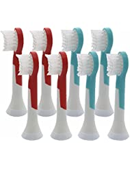 SonicPRO Kids (8 Pack) Compact Replacement Sonic Toothbrush Heads for Sonicare For Kids Hx6032/94, Fits HX6311/07, HX6311/02