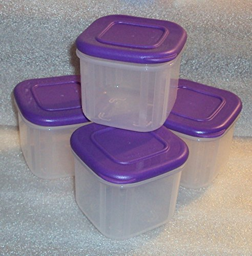 Tupperware Clear Mates 4-pc Square Midget Snack Set