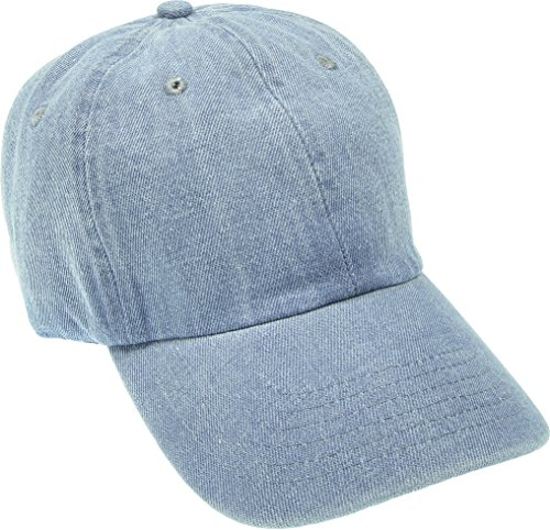 Hand Dyed Denim (Hand By Hand Aprileo Denim Cap Dyed Washed Cotton Hat Baseball Ball Cap Polo [01 Light Denim](One Size))