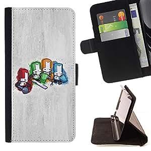 Momo Phone Case / Flip Funda de Cuero Case Cover - Caballeros Diminuto;;;;;;;; - LG G4c Curve H522Y (G4 MINI), NOT FOR LG G4