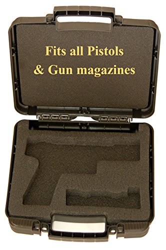 UPC IMI Defense Universal Secure Premium Hard Plastic Pistol Case For any pistol and magazine (Black) -