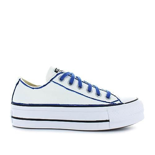 Zapatos de Mujer Zapatillas Converse All Star Ed Ltd Platform Blanco/Azul Primavera Verano 2018: Amazon.es: Zapatos y complementos