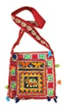 Cotton Canvas Heavy Embroidery Mirror Work Elephant Hippie Boho Tote Indian Sling Shoulder Bag, Bags Central