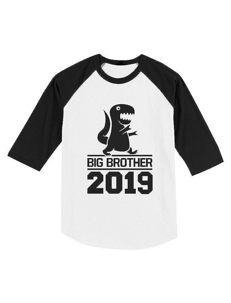 Gift for Big Brother 2019 T-Rex Boy Toddler Raglan 3//4 Sleeve Baseball Tee
