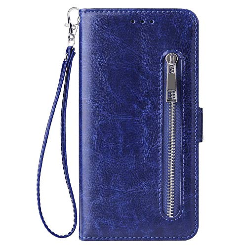 Flip Case for iPhone 11 Blue PU Leather Wallet Cover (CompatibleiPhone 11)