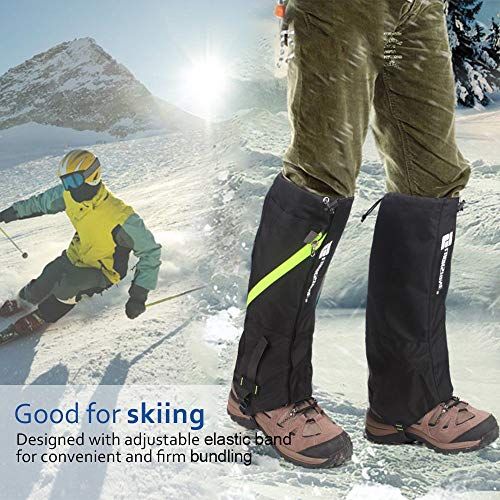 Leg Gaiters - Waterproof Snow Gaiters Shoes Gaiters for Men Women Youth Kids, Double-Layers Mountain Outdoor Breathable for Hiking Walking Climbing Hunting Leg Cover (S,M,L,XL)