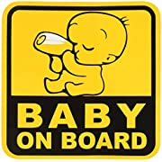 BABY ON BOARD Graphic Sticker Decal 1 Sticker 12.5 x 12.5 cm.