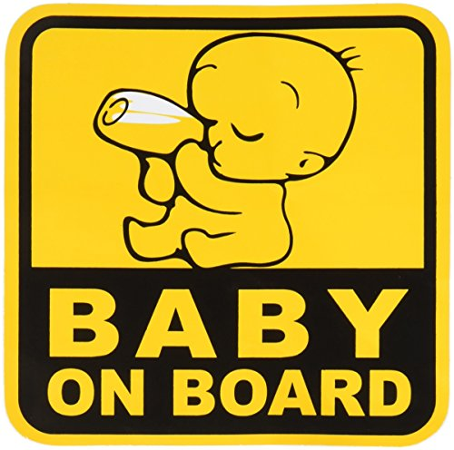 Sticker Decal Graphic (BABY ON BOARD Graphic Sticker Decal 1 Sticker 12.5 x 12.5 cm.)