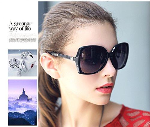 Oversize Fashion Retro Women UV400 Protection Sunglasses (Black, - Women Oversize