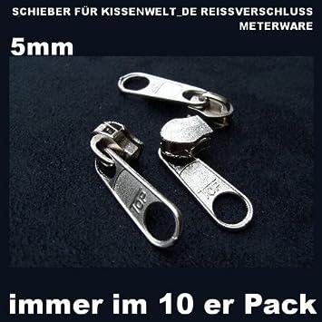 Reissverschluss Zipper Schieber Fur 5 Mm Spirale 10 Er Pack Farbe