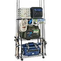 Organized Fishing Adjustable 3-Shelf Rolling Tackle...