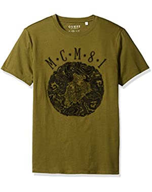 Men's Mcm Emblem Crew Neck T-Shirt