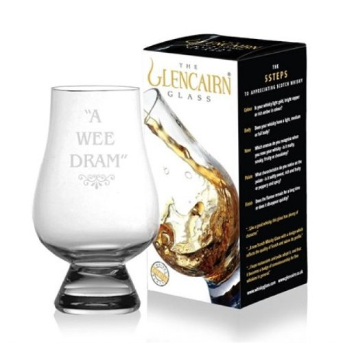 Official Glencairn Crystal Whisky Tasting Glass - A Wee Dram 1 2 4 6 8 by Glencairn