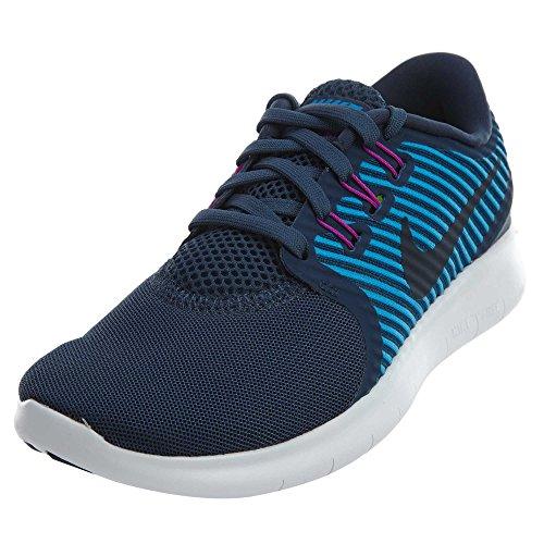 Nike Womens Free Rn Cmtr Hardloopschoen Sqdrn Blauw / Donker Obsidiaan-hrtg Cyn-hy