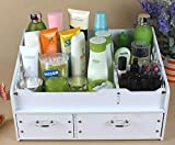 FLHSLY Waterproof Desktop Cosmetic Storage box With drawer Bathroom Desktop Finishing Shelf Multifunction Cosmetic case storage