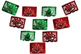 alamo Merry Christmas Feliz Navidad Metalic Papel Picado Red and Green