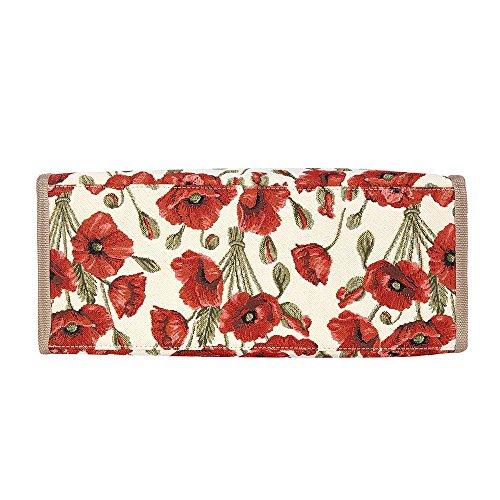 Papavero Fashion da donna Signare shopper Tapestry borsa nHqCwxSUB1