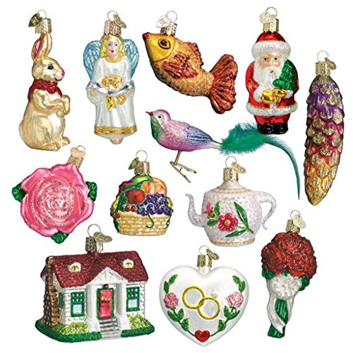 (Old World Christmas Bride's Collection Ornament Box Set)