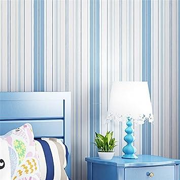 MDDW-Méditerranée orientale bandes verticales bleu de papier peint ...