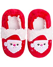 Knemksplanet Toddler Boys Girls Fuzzy Slippers Kids Cute Cartoon Unicorn Dinosaur Bunny Shoes Non-Slip Animals Fluffy Plush House Slippers Fur Lined Warm Indoor Bedroom Shoes