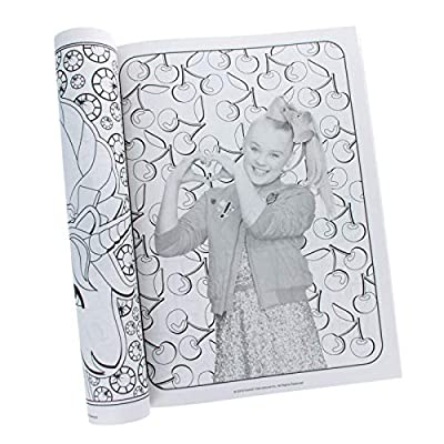 Activity Books JoJo Siwa Gigantic 192 Page Coloring Book with Door Hanger on Back: Toys & Games