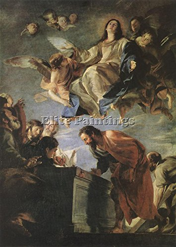CEREZO MATEO ASSUMPTION OF MARY ARTIST PAINTING REPRODUCTION HANDMADE OIL CANVAS 40x28inch by Elite-Paintings