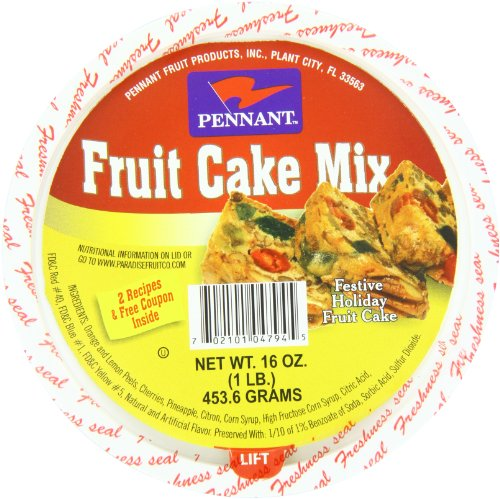 Trail Mix Cake - Pennant Fruit Cake Mix, 16 Ounce (Pack of 12)