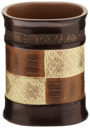 Popular Bath Tumbler, Zambia Collection, Animal Print/Beige