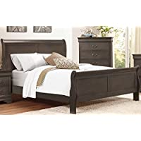 Mayville Sleigh Bed in Stained Grey - Full