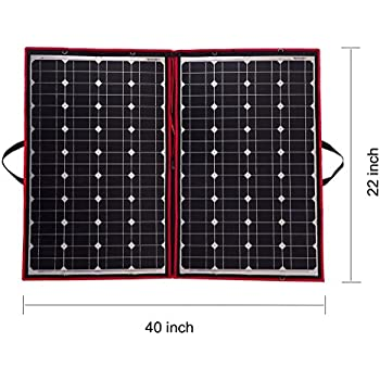 DOKIO 80 Watts Solar Panel 12 Volts Monocrystalline foldable with Inverter Charge Controller