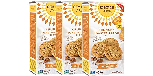 Simple Mills Crunchy Cookies, Toasted Pecan, 5.5 oz, 3 count